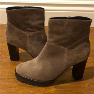 Peter Kaiser Suede Ankle Booties size 7.5